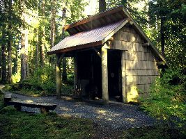 Day use shelter in NPS campground